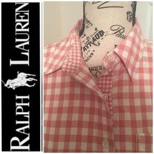 🆕NWT Lauren Ralph Lauren Checkered Button Down